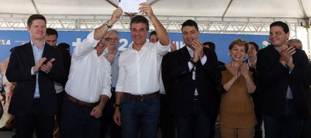 Richa oficializa R$ 240 milhões para saneamento e abastecimento de água na região; PG terá R$ 36 milhões